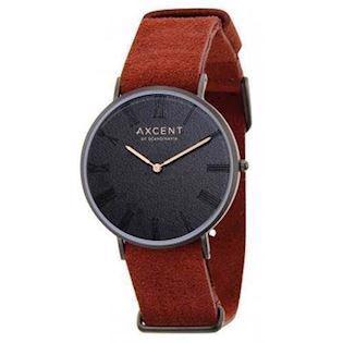 Axcent of Scandinavia Career blank IP sort rustfri stål Quartz Unisex ur, model IX5680B-01